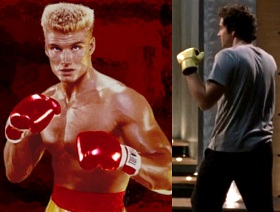 Dolph Lundgren in Rocky IV - Chuck in Chuck vs. the Pink Slip